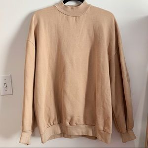 BERSHKA High Neck Oversized Sweatshirt
